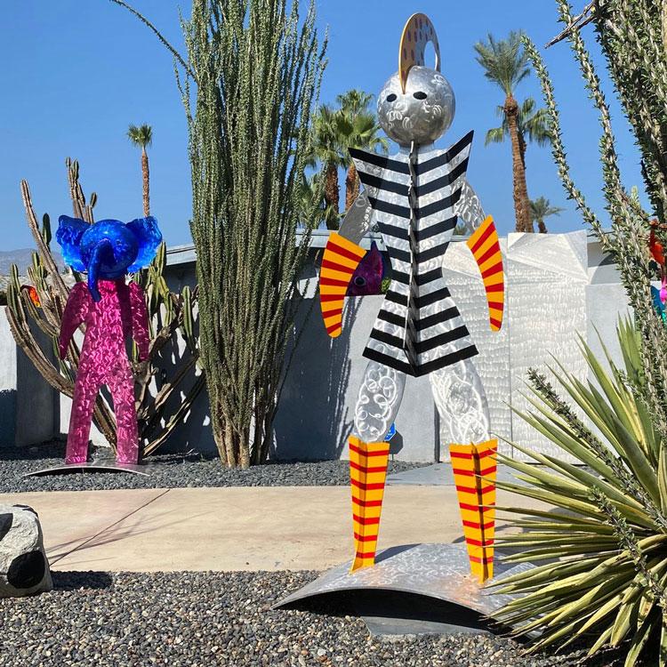Karen and Tony Barone Sculpture Swirly Girl
